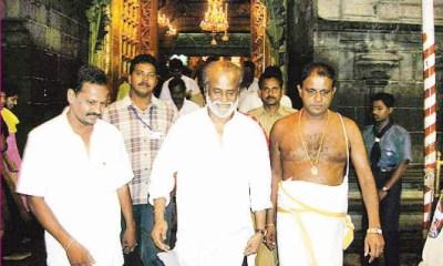 Rajinikanth visits Mantralayam temple