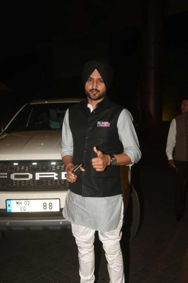 Harbhajan Singh spotted at at St Regis for the wedding party