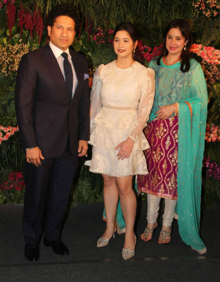 Sachin Tendulkar and family at Virushka's Mumbai reception