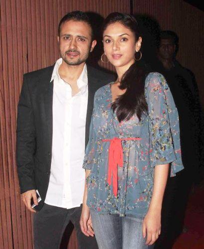 Aditi Rao Hydari with Satyadeep Mishra