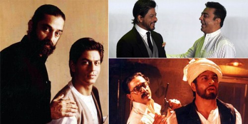 Kamal Haasan with Sharukh Khan