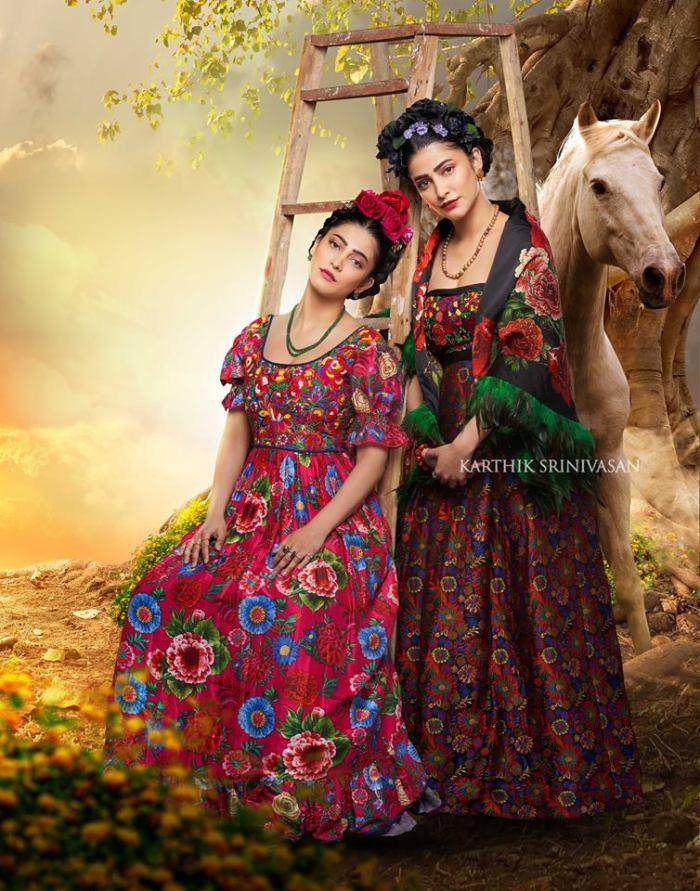 "Shruti Haasan as""Frida Kahlo"""