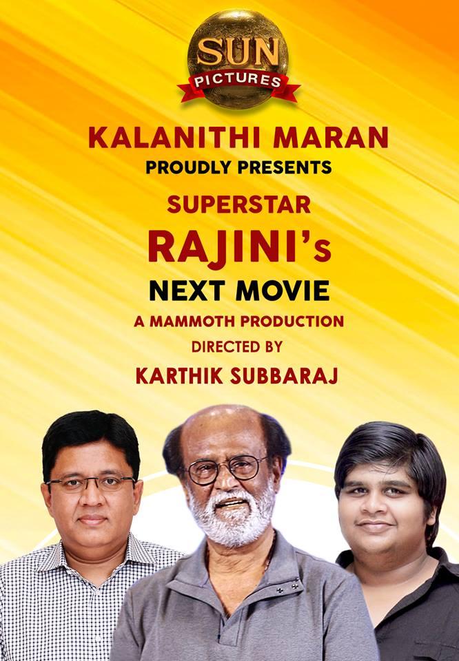 Rajinikanth's Next Project with Karthik Subbaraj