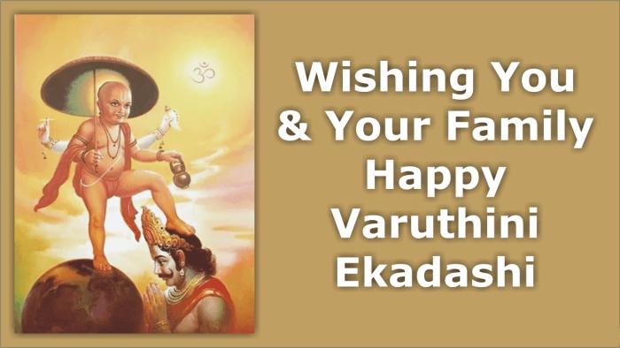 Happy Varuthini Ekadashi 2018