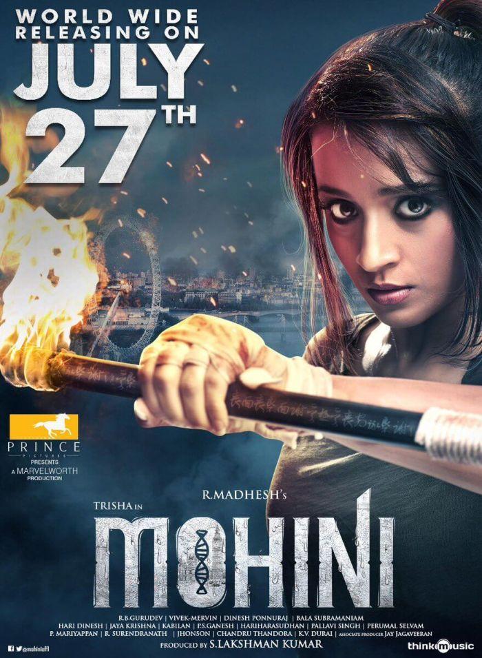 Trisha Krishnan's Mohini to Hit The Screens on July 27