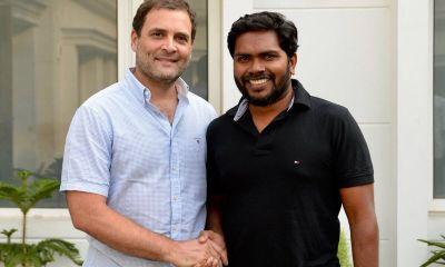 "Congress President Rahul Gandhi met ""Kaala"" Director Pa. Ranjith"