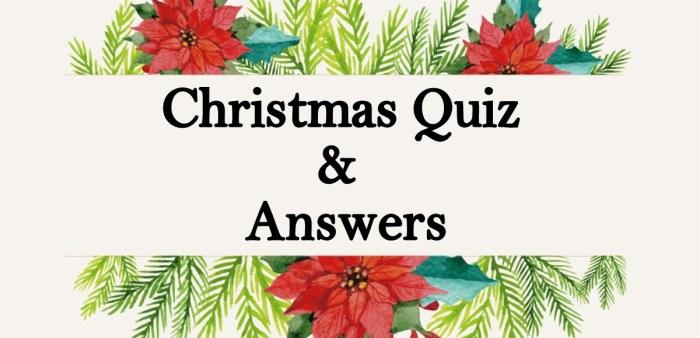 Christmas Quiz & Answers