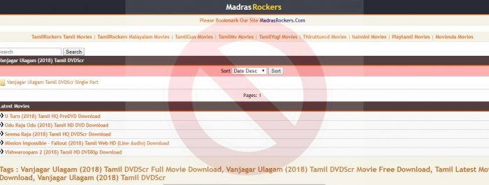 Madrasrockers Website