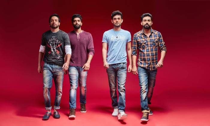 Venkat Subramaniyam with his Sanam band Members