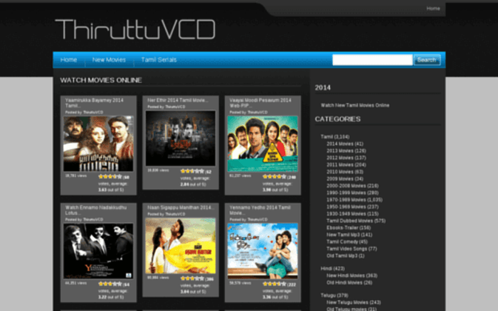 ThiruttuVCD Movies 2019: ThiruttuVCD New Tamil, Malayalam