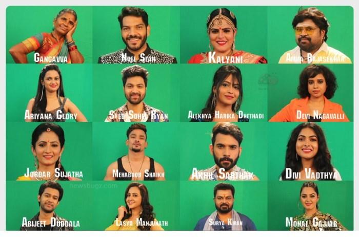 Bigg Boss Telugu 4 Contestants