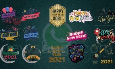 Happy New Year Stickers 2021
