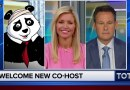 A concussed panda replaces Steve Doocy on Fox & Friends