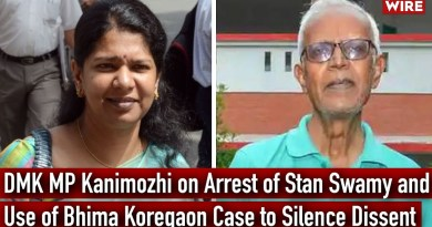 DMK MP Kanimozhi on Arrest of Stan Swamy and Use of Bhima Koregaon Case to Silence Dissent