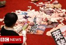 Taiwan lawmakers throw pig guts and punches – BBC News