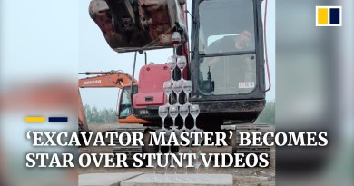 'Excavator master' in China becomes star over stunt videos