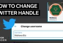 How To Change Your Twitter Handle