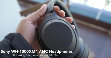 Sony 1000 XM4 Headphones Unboxing Impressions & Mic Test