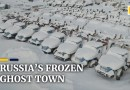Eerie frozen Russian ghost town captured in images showing winter's grip
