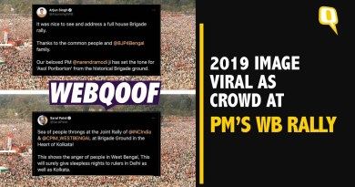 Fact-Check: 2019 Image Used by BJP, Congress to Show Turnout at WB Rallies