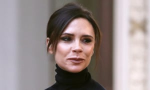 Victoria Beckham takes to the runway after her show in New York.
