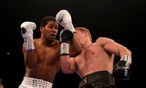 Alexander Povetkin punches up and through Anthony Joshua's defences in his impressive early rounds.