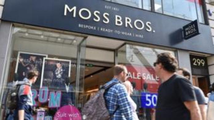 Moss Bros shop front