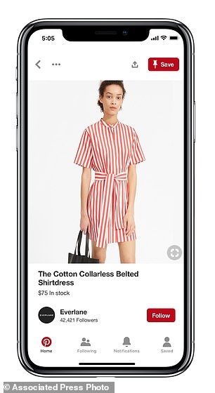 A new shoppable Pinterest 'product pin'