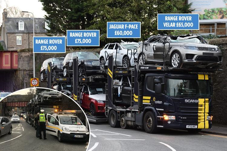 Luxury Motors Worth 275 000 Crushed When Car Transporter Ploughed