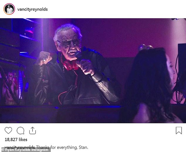 The actor later posted this image of Stan