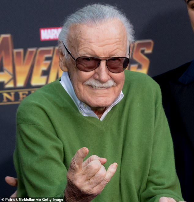 Superhero: Stan Lee (above) passed away on Monday at the age of 95 after being rushed to a hospital in Los Angeles