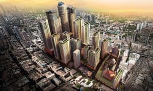 Render of future developments in Bhendi Bazaar in south Mumbai.
