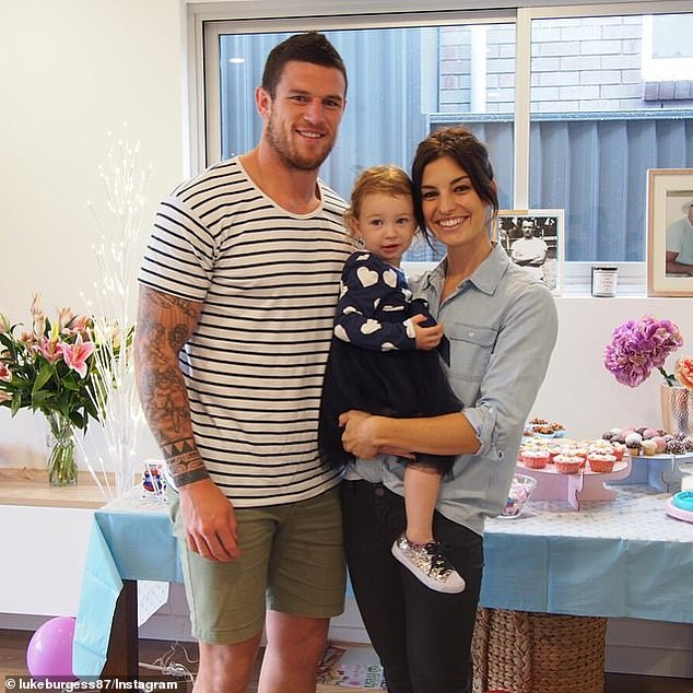 Luke Burgess flaunts his new relationship with Lindsey Johnston at