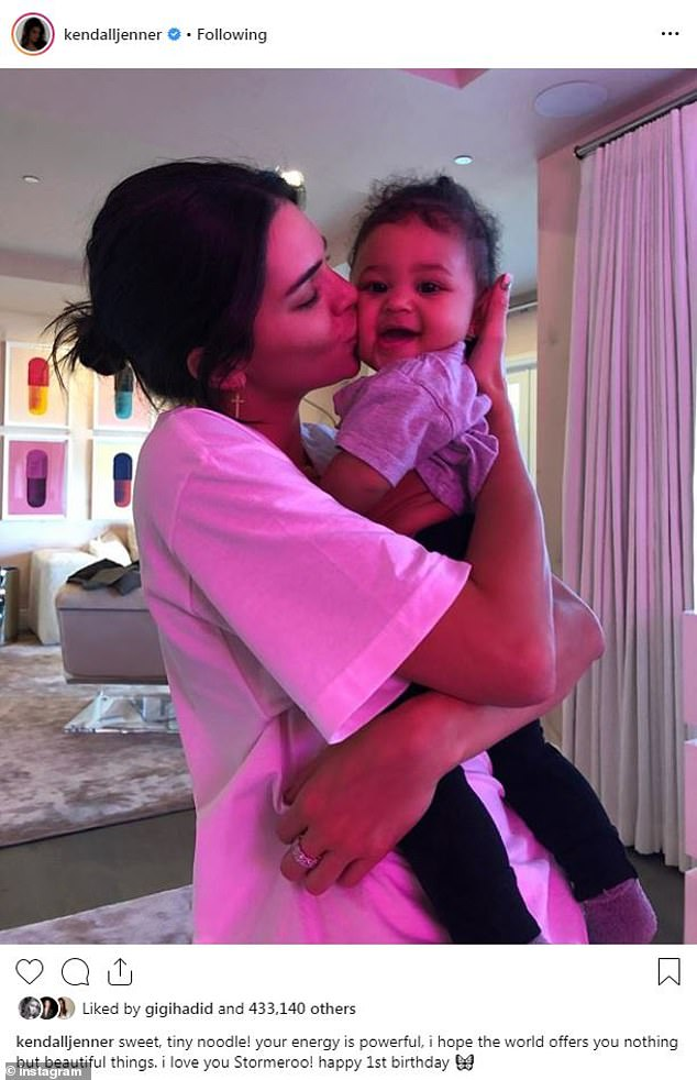 Kylie Jenner shares several new images of Stormi as her