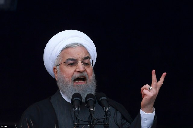 'We have not asked and will not ask for permission to develop different types of missiles and will continue our path and our military power,' President Hassan Rouhani said