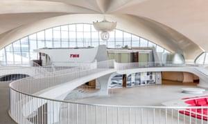 TWA's Flight Center, in New York. Flight operations ended at TWA's Flight Center in October 2001.