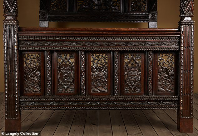 The Langely Collection that now owns the bed calls it 'The First State Bed of Henry VII & Elizabeth of York' on their website and dates it to between October 1485 and January 1486