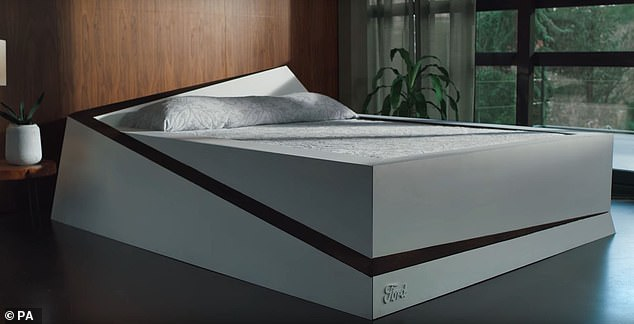 Pressure sensors detect when a person moves from one side of the bed to the other, and gently rolls them back to their side with the help of an integrated conveyor belt