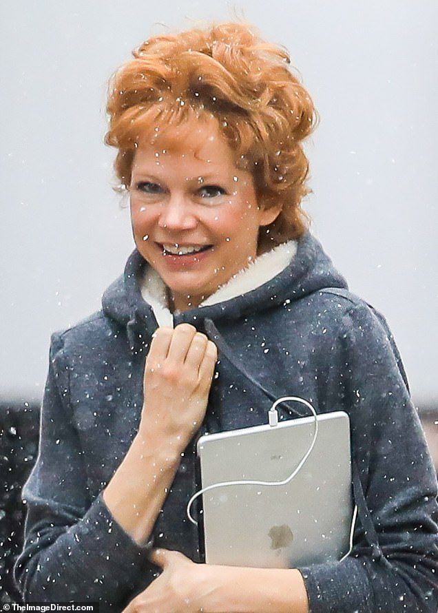 Premieres April 9 on FX! On Tuesday, Michelle Williams transformed into the late, great Broadway dancer Gwen Verdon on the snowy Manhattan set of Fosse/Verdon