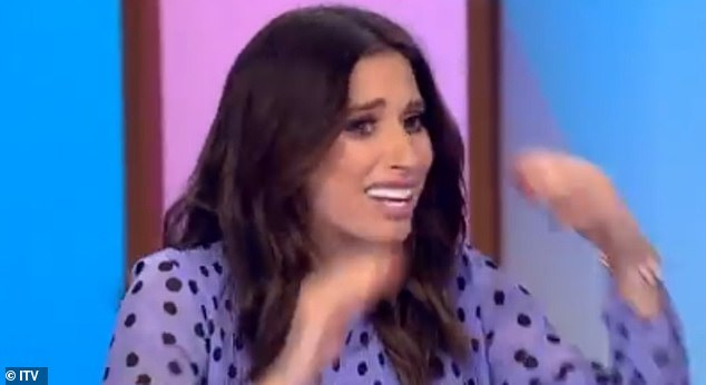 Shocked: Pregnant Stacey Solomon broke down on Loose Women on Friday as she discussed her baby news, just hours after announced she is expecting her first child with boyfriend Joe Swash, her third child overall and his second