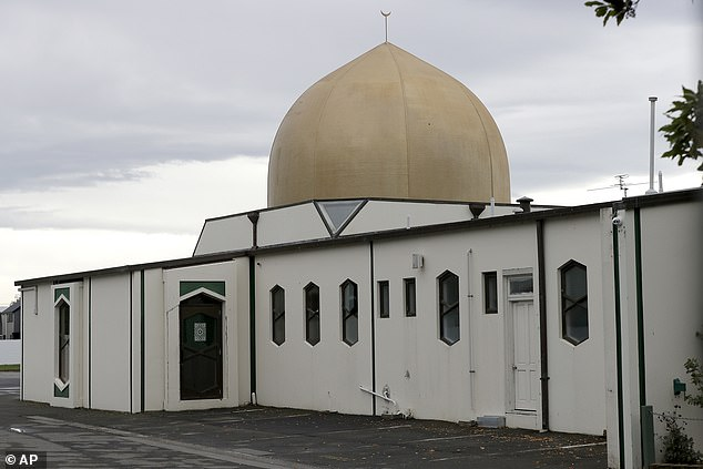 Israel's embassy in New Zealand described the claims as 'absurd' and said the Jewish community 'mourned the horrendous terror massacre' at two mosques (Al Noor mosque, pictured) earlier this month