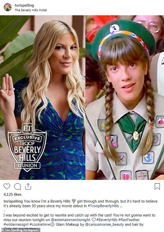Troop Beverly Hills cast, including Tori Spelling, reunites