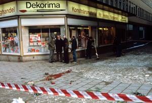 The site of Olof Palme's murder in Stockholm in 1986.