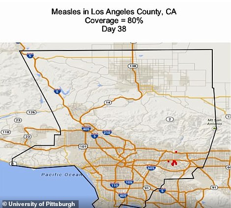 LA at day 38 of a measles outbreak