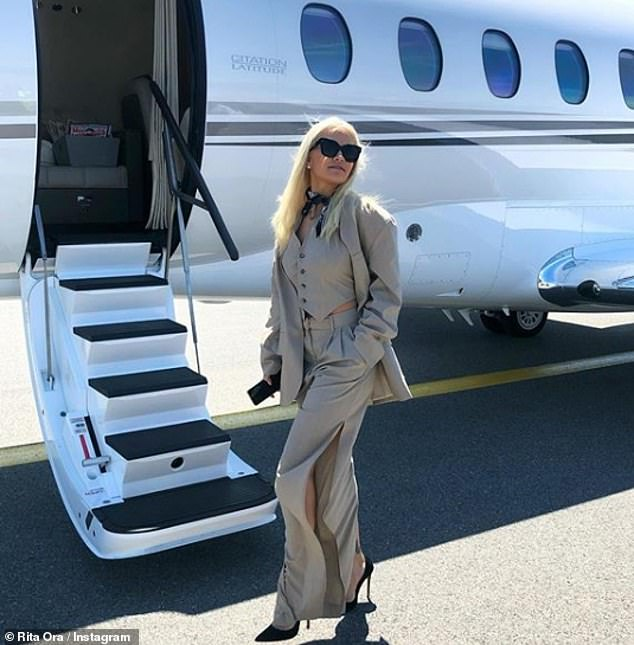 Wow! Ever the jet-setter, Rita Ora was on her travels once again as she joined Vogue editor Edward Enninful in hopping on a private jet to enjoy the 72nd annual Cannes Film Festival in Nice on Thursday afternoon