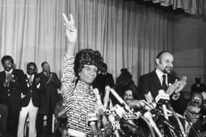 Shirley Chisholm announces her run for president.