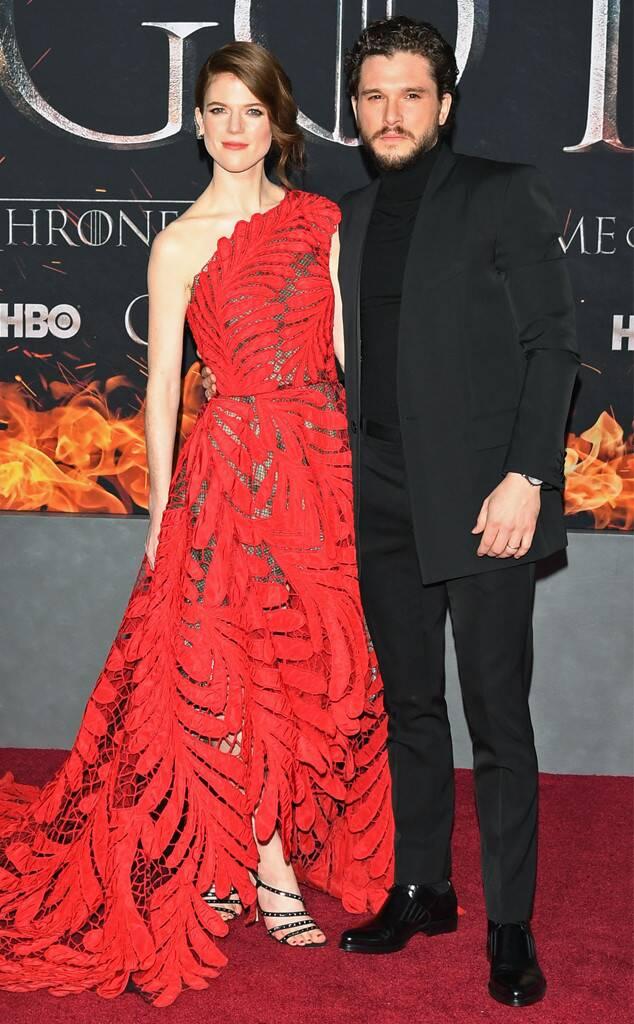 Kit Harington, Rose Leslie, Game of Thrones Season 8 Premiere