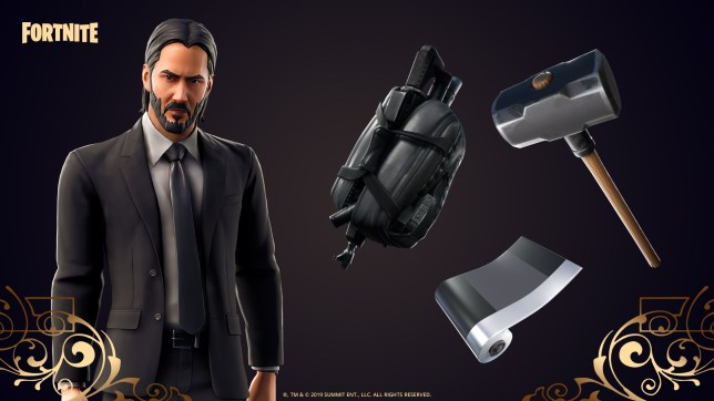 Fortnite and John Wick crossover