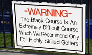 Bethpage Black: it does what it says on the tin sign.