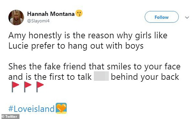 Seriously? Many fans also branded Amy a 'fake friend' for her behaviour towards Amy, after the surfer called her out for 'badmouthing' her to the other girls